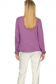 Set |  Chunky knitted sweater Liza | purple  | Picture 7