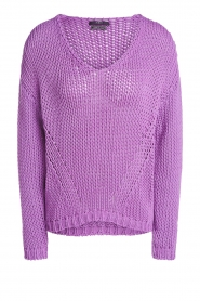 Set |  Chunky knitted sweater Liza | purple  | Picture 1