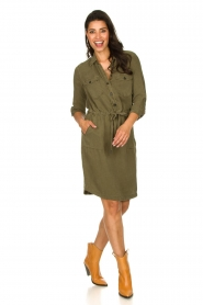 Set | Katoenen jurk Anna | groen  | Afbeelding 3