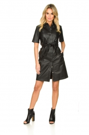 Set |  Leather dress Charol | black  | Picture 3
