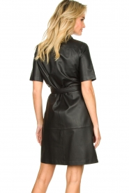 Set |  Leather dress Charol | black  | Picture 5