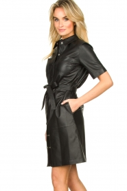 Set |  Leather dress Charol | black  | Picture 4
