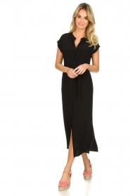 Set |  Maxi dress with belt Div | black  | Picture 3