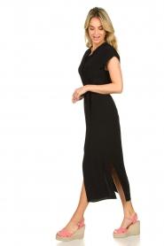 Set |  Maxi dress with belt Div | black  | Picture 4