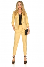 Set |  Trousers with striking seams Nathalie | yellow  | Picture 3