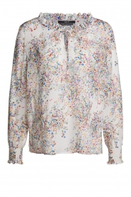 Set |  Floral printed blouse Vera | white  | Picture 1