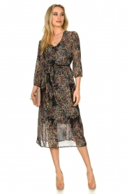 Set |  Floral printed dress Tyron | black  | Picture 3