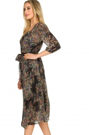 Set |  Floral printed dress Tyron | black  | Picture 4