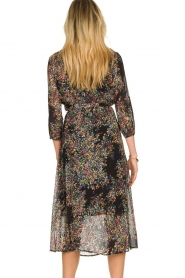 Set |  Floral printed dress Tyron | black  | Picture 5