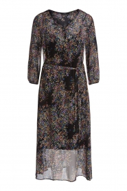 Set |  Floral printed dress Tyron | black  | Picture 1
