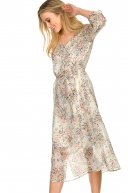 Set |  Floral printed dress Tyron | white  | Picture 5