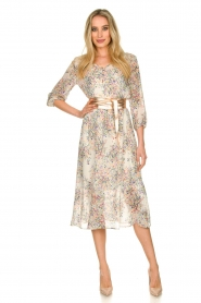 Set |  Floral printed dress Tyron | white  | Picture 3