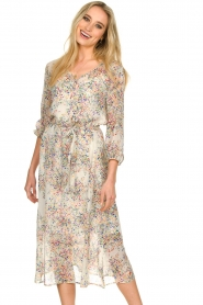 Set |  Floral printed dress Tyron | white  | Picture 4