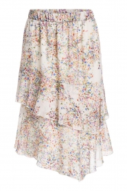 Set |  Skirt with floral print Marie | natural