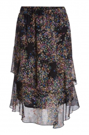 Set |  Skirt with floral print Marie | black  | Picture 1