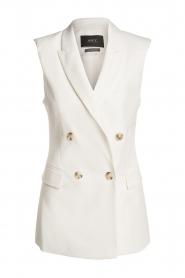 Set |  Sleeve less blazer Dian | white  | Picture 1