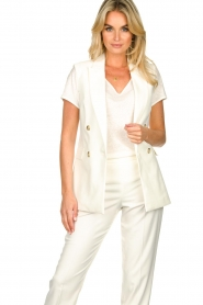 Set |  Sleeve less blazer Dian | white  | Picture 2