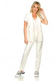 Set |  Sleeve less blazer Dian | white  | Picture 3