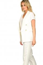Set |  Sleeve less blazer Dian | white  | Picture 4