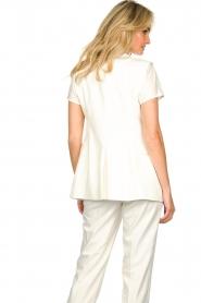 Set |  Sleeve less blazer Dian | white  | Picture 5
