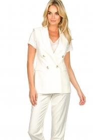 Set |  Sleeve less blazer Dian | white  | Picture 6