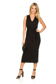 Set |  Wrap dress Deta | black  | Picture 3