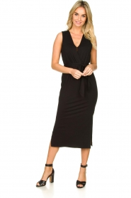 Set |  Wrap dress Deta | black  | Picture 2