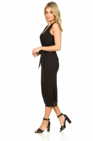 Set |  Wrap dress Deta | black  | Picture 4