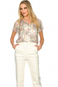Set |  Top with flower print Fiora | white  | Picture 2
