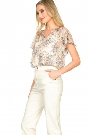 Set |  Top with flower print Fiora | white  | Picture 5