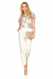 Set |  Top with flower print Fiora | white  | Picture 3