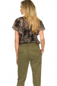 Set |  Top with flower print Flora | black  | Picture 6