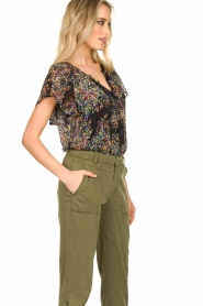 Set |  Top with flower print Flora | black  | Picture 5