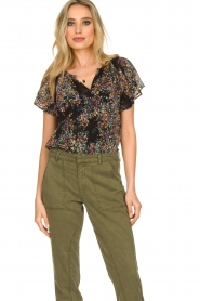 Set |  Top with flower print Flora | black  | Picture 2