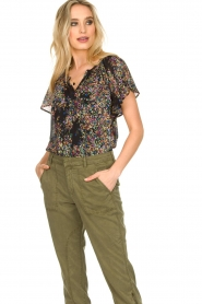 Set |  Top with flower print Flora | black  | Picture 4