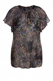 Set |  Top with flower print Flora | black  | Picture 1