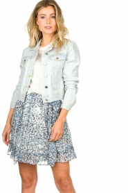 Set |  Short denim jacket Dyllan | blue  | Picture 5
