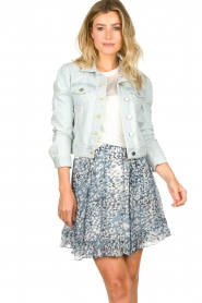 Set |  Short denim jacket Dyllan | blue  | Picture 2