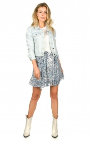 Set |  Short denim jacket Dyllan | blue  | Picture 3
