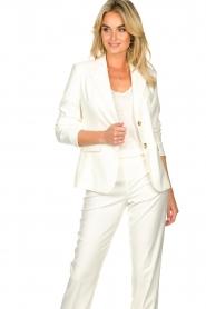 Set |  Classic white blazer Nikkie | white  | Picture 5