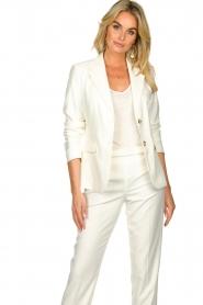 Set |  Classic white blazer Nikkie | white  | Picture 2