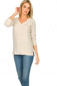 Knit-ted    Cotton sweater Raaf   beige    Picture 4