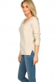 Knit-ted |  Cotton sweater Raaf | beige  | Picture 5