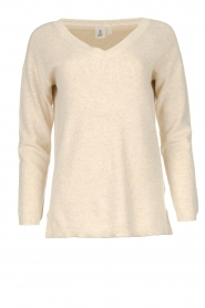 Knit-ted |  Cotton sweater Raaf | beige  | Picture 1