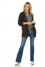 Knit-ted |  Cotton cardigan Raley | black   | Picture 3