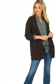 Knit-ted |  Cotton cardigan Raley | black   | Picture 2
