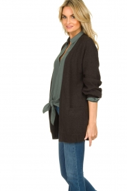 Knit-ted |  Cotton cardigan Raley | black   | Picture 4