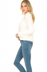 Knit-ted |  Chunky knitted sweater Rens | naturel  | Picture 5