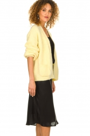 Knit-ted |  Knitted cardigan with wool blend | yellow  | Picture 5
