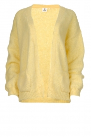 Knit-ted |  Knitted cardigan with wool blend | yellow  | Picture 1